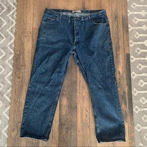 Men's Wrangler denim jeans 44x32 relaxed fit